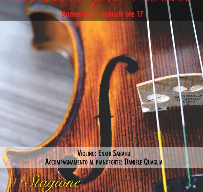 concerto per violino Enxhi Sabahu